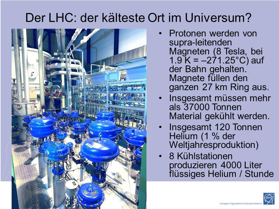 http://ert.cern.ch Der LHC: der kälteste Ort im Universum.