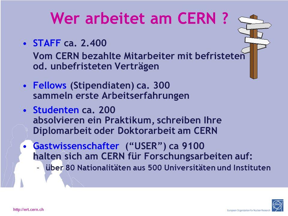 http://ert.cern.ch Wer arbeitet am CERN .STAFF ca.