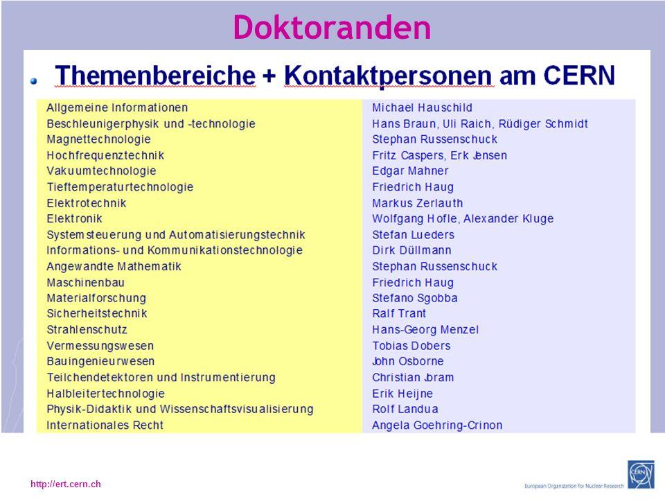 http://ert.cern.ch Doktoranden