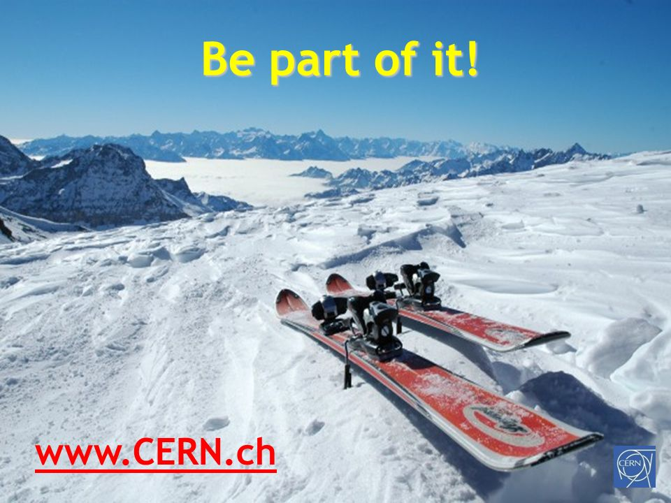 http://ert.cern.ch F. Haug Be part of it! www.CERN.ch