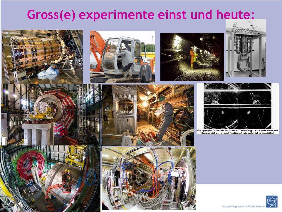 http://ert.cern.ch Gross(e) experimente einst und heute: