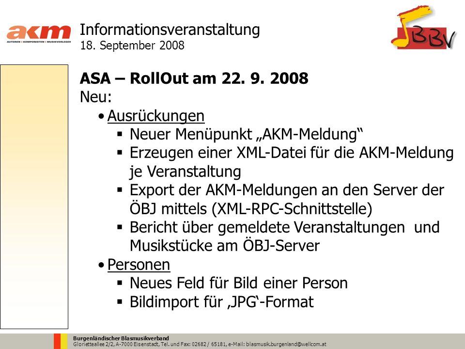 Burgenländischer Blasmusikverband Glorietteallee 2/2, A-7000 Eisenstadt, Tel.