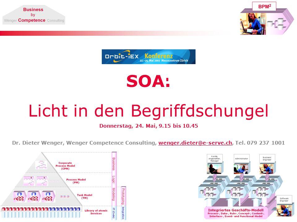 12 SOA & Workflow Service-Auslagerungstruktur Durch die Auslagerung entsteht ein Workflow.