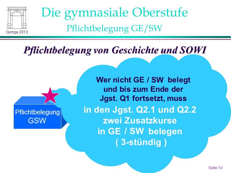 Seite:9 9 Gymga 2013 + IF Einführungsphase: Jgst.