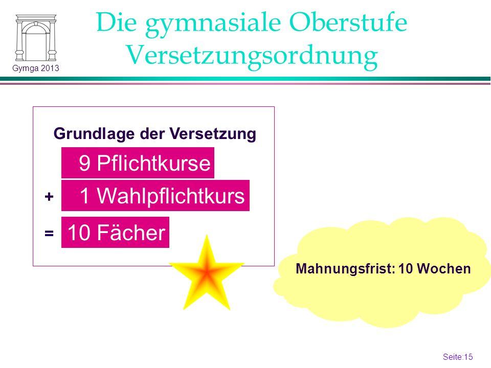 Seite:14 14 Gymga 2013 Kriterien werden in den Fachkonferenzen festgelegt.