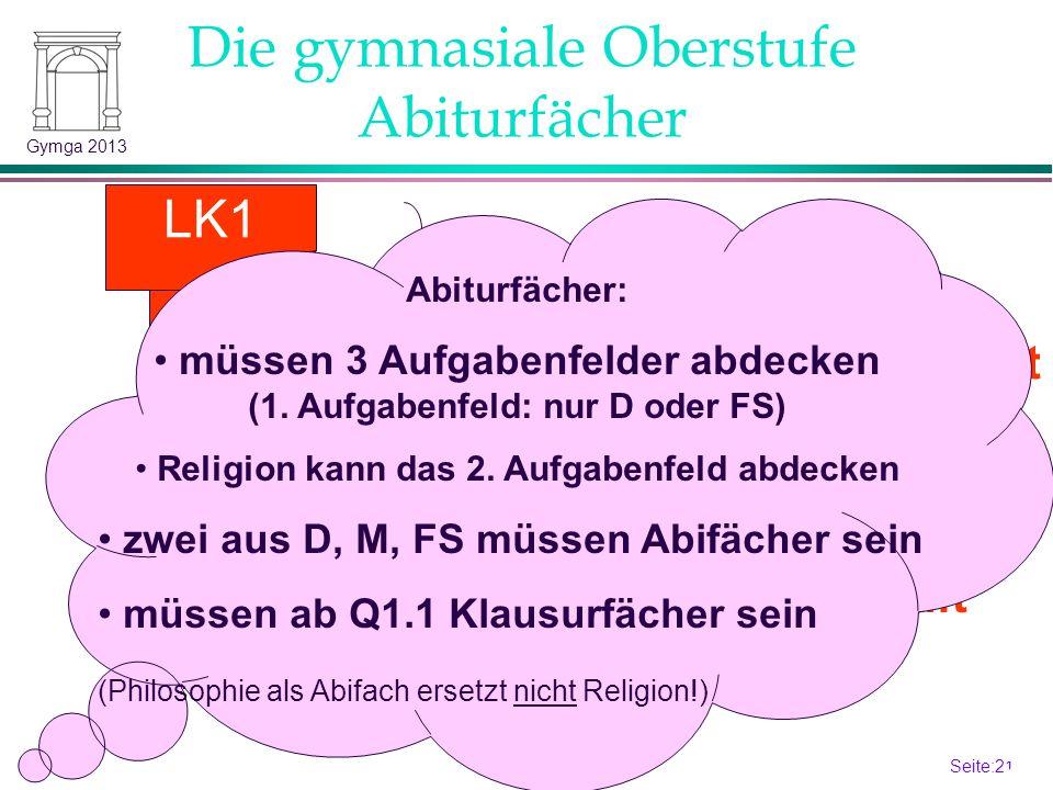 Seite:20 20 Gymga 2013 S2-Sprache Die gymnasiale Oberstufe Schriftlichkeit: Q2.2 LK2 LK1 3.
