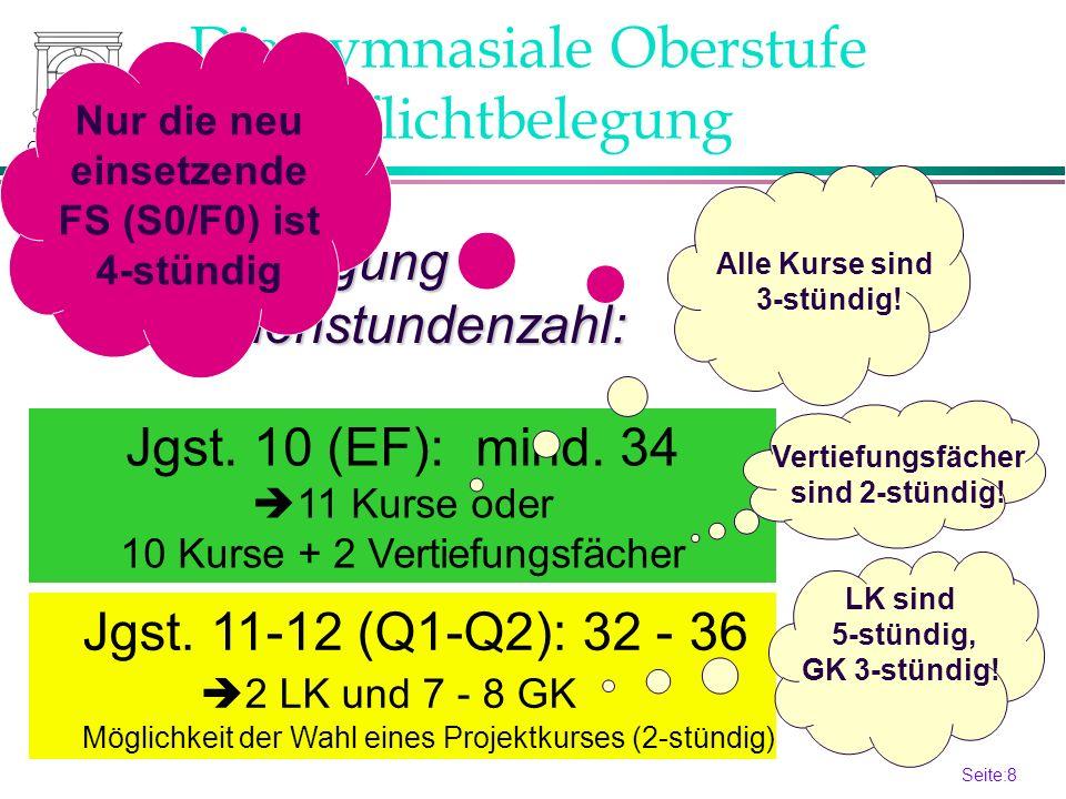 Seite:7 7 Gymga 2013 Die gymnasiale Oberstufe Aufgabenfelder Welche Fächer werden angeboten.