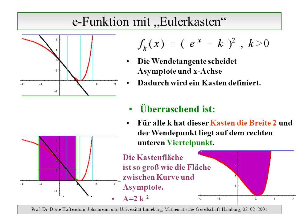 e-Funktion mit Eulerkasten Prof. Dr. Dörte Haftendorn, Johanneum und Universität Lüneburg, Mathematische Gesellschaft Hamburg, 02. 02.2001 Überraschen