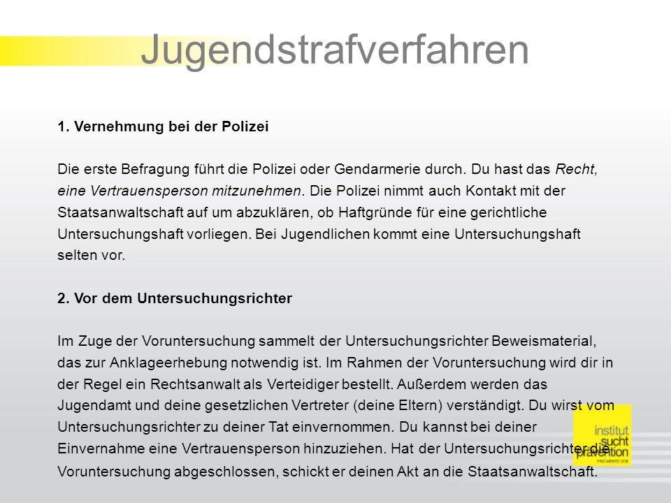 Jugendstrafverfahren 1.
