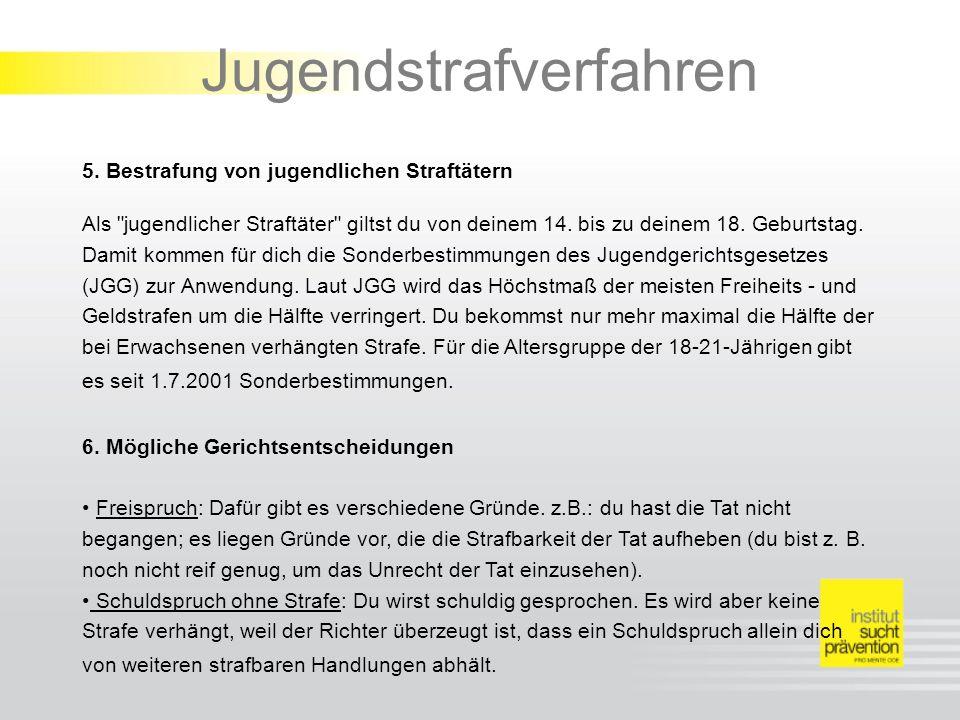 Jugendstrafverfahren 5.