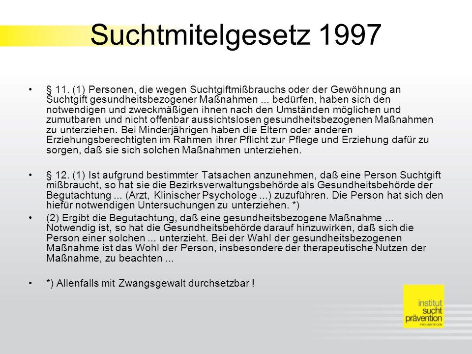 Suchtmitelgesetz 1997 § 11.