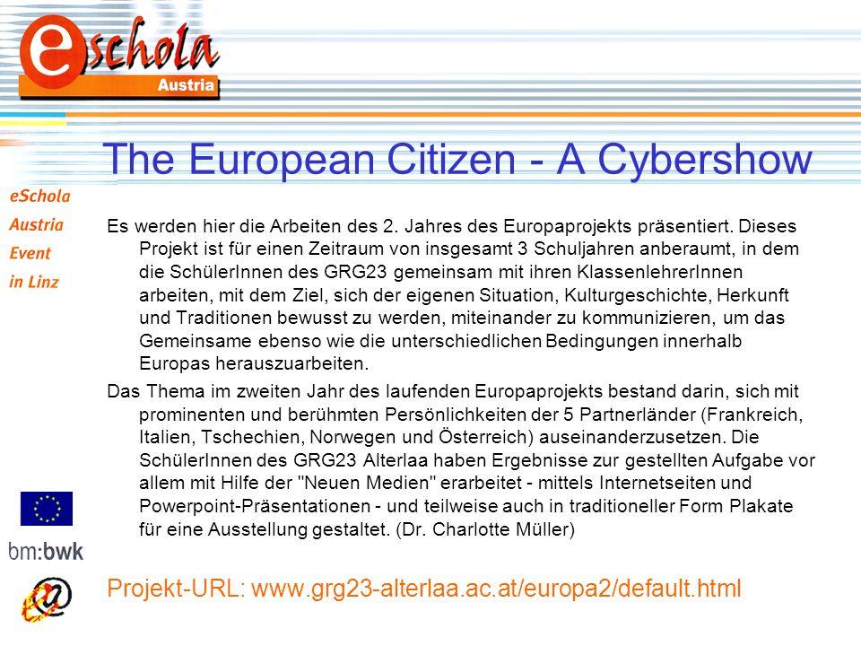 Es werden hier die Arbeiten des 2. Jahres des Europaprojekts präsentiert.