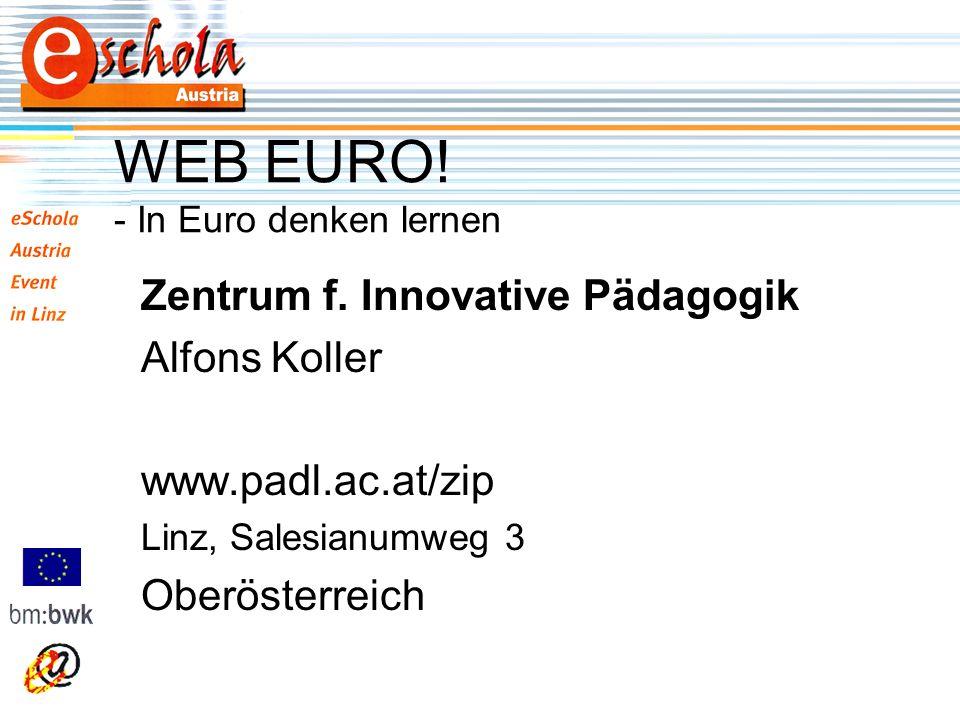 WEB EURO. - In Euro denken lernen Zentrum f.