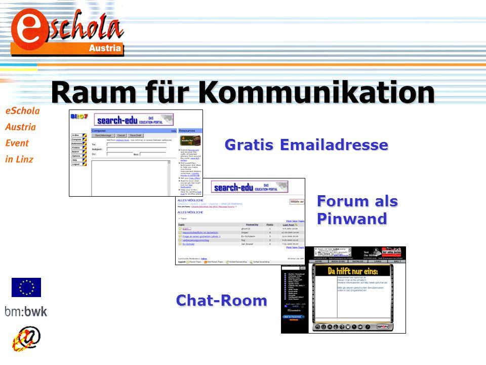 Raum für Kommunikation Gratis Emailadresse Chat-Room Forum als Pinwand