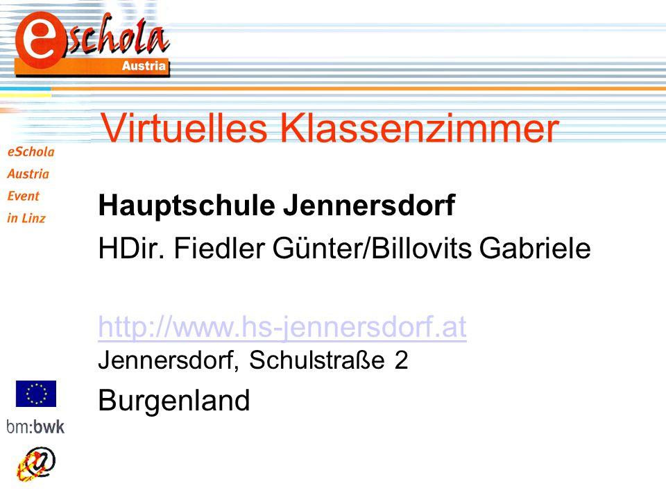 Virtuelles Klassenzimmer Hauptschule Jennersdorf HDir.