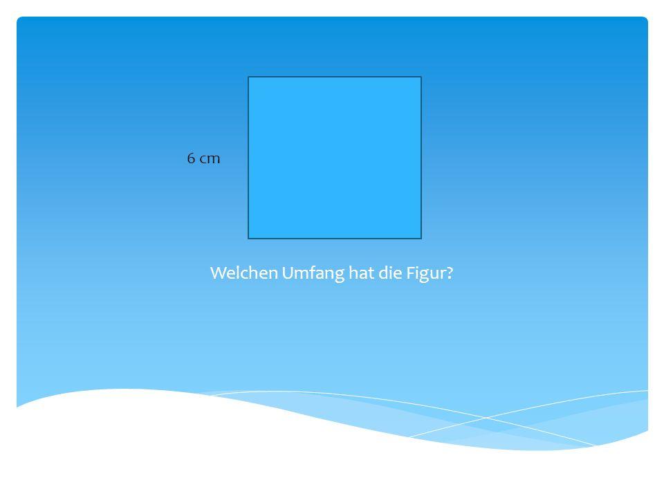 Welchen Flächeninhalt hat die Figur ? 6 cm