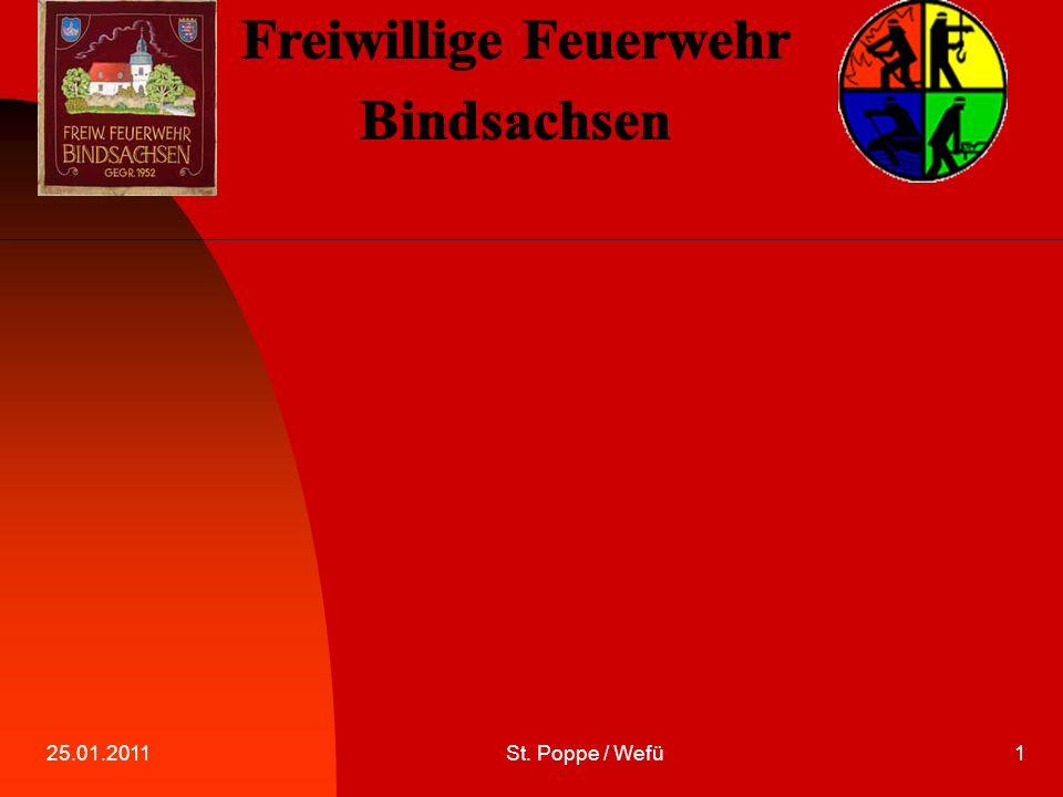 25.01.2011St. Poppe / Wefü2 Funkrufnamen Herzlich Willkommen zur ersten Übung in diesem Jahr.
