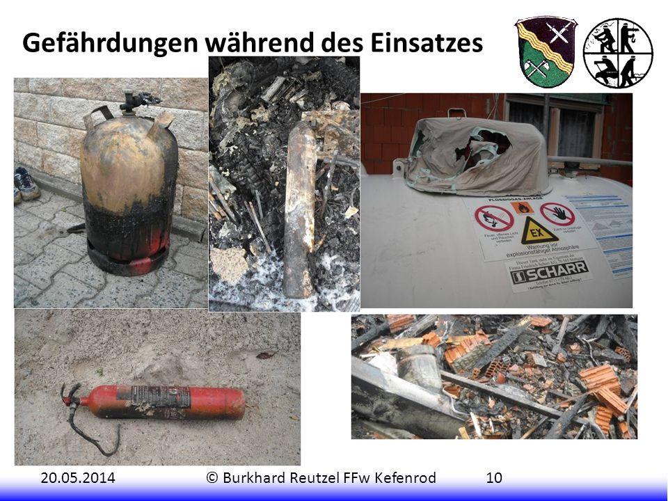 20.05.2014© Burkhard Reutzel FFw Kefenrod10 In dem zuerst brennenden Gebäudekomplex (Lagerhalle mit integriertem Wohn- und Bürobereich) befanden sich