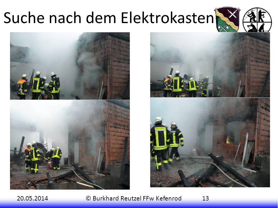 20.05.2014© Burkhard Reutzel FFw Kefenrod13 Der alarmierte Energieversorger OVAG stellte fest, dass sogar im Transformatorenhaus in Kefenrod Sicherung