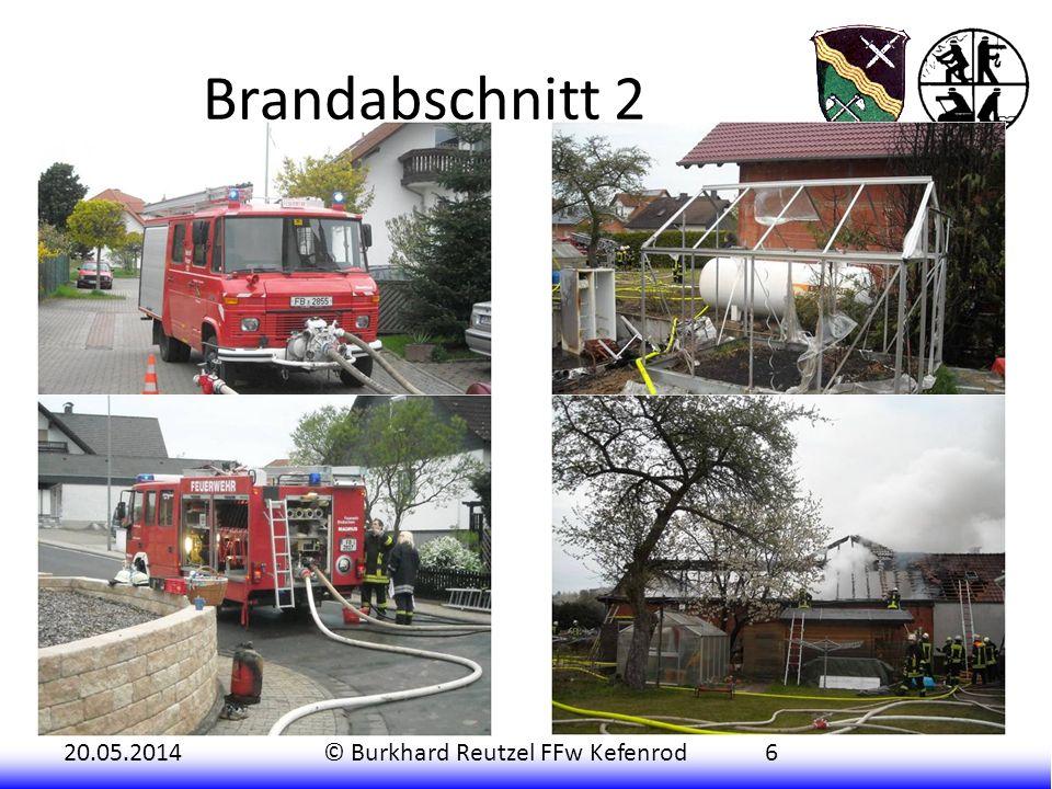 20.05.2014© Burkhard Reutzel FFw Kefenrod6 Kurz nach dem Ausrücken des ersten Fahrzeuges kam auch schon ein Nachbar in das Gerätehaus gelaufen, um die