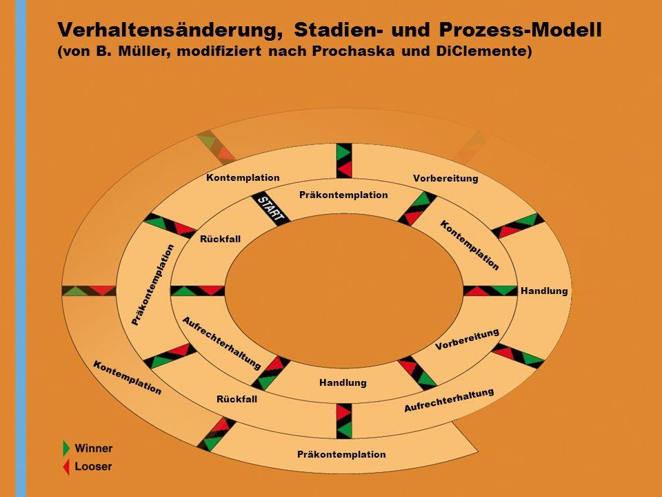Verhaltensänderung, Stadien- und Prozess-Modell (von B.
