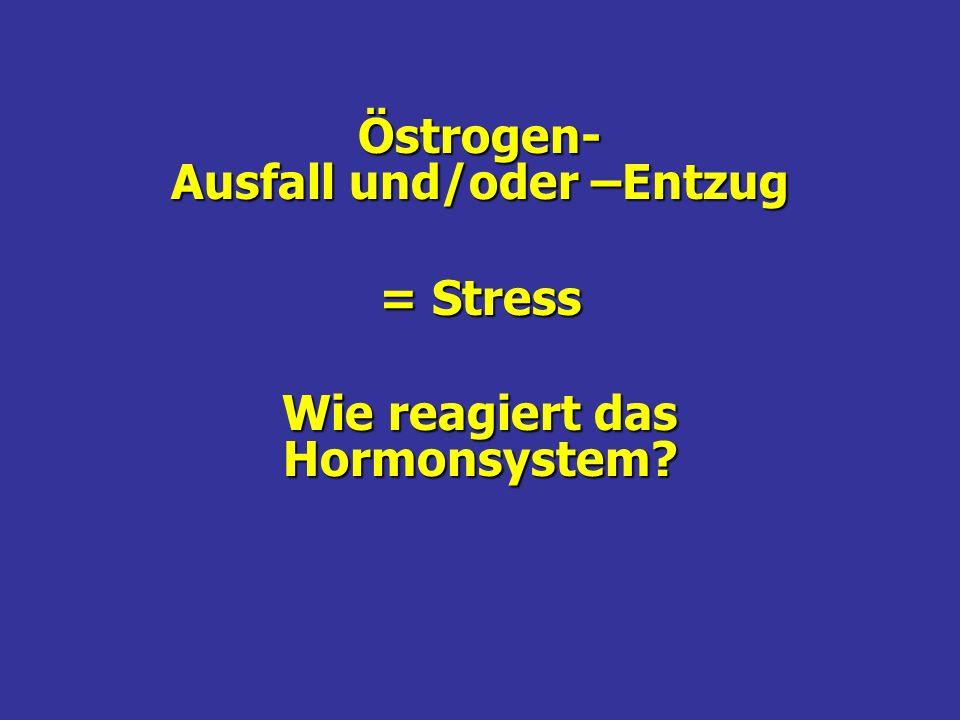 Östrogen- Ausfall und/oder –Entzug = Stress Wie reagiert das Hormonsystem?