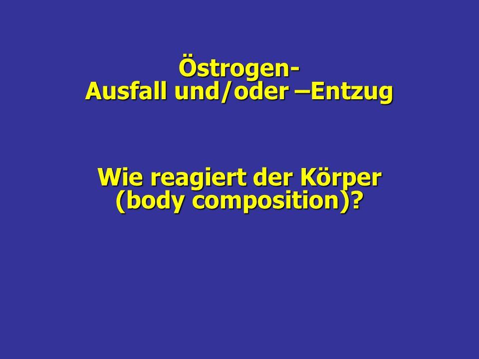 Östrogen- Ausfall und/oder –Entzug Wie reagiert der Körper (body composition)?