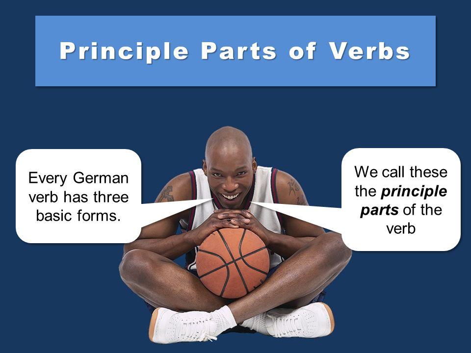 Principle Parts of Verbs Every German verb has three basic forms.