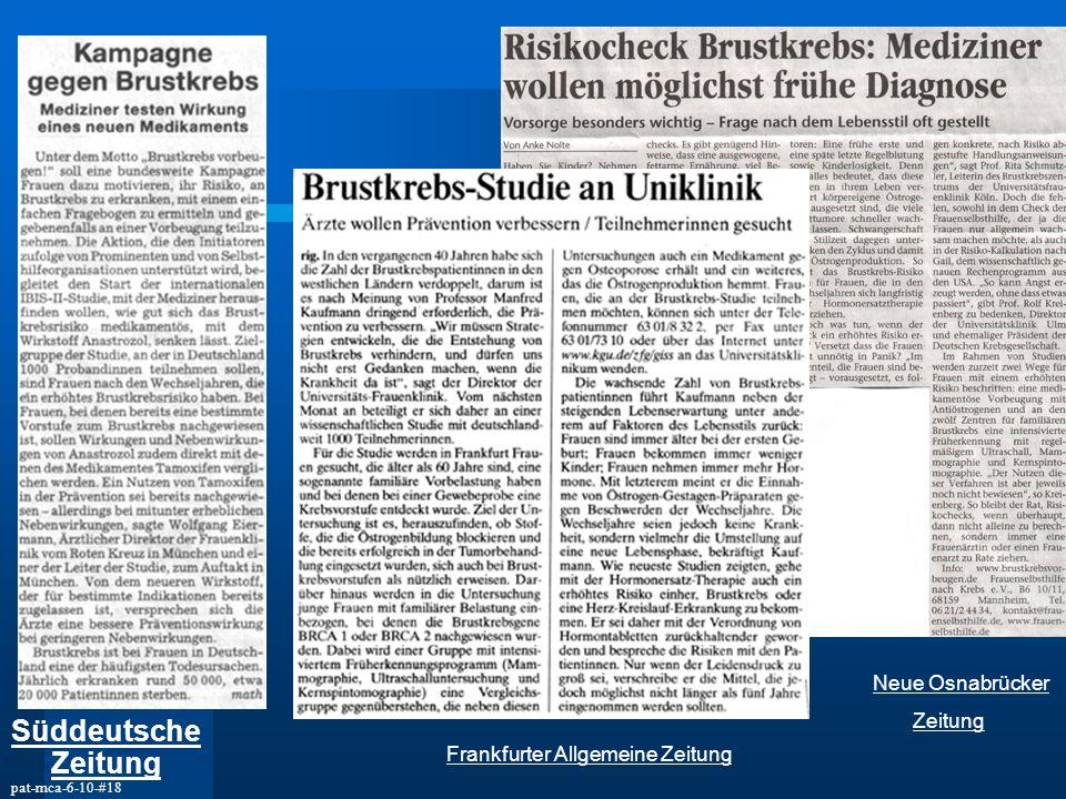 pat-mca-6-10-#18 Süddeutsche Zeitung Frankfurter Allgemeine Zeitung Neue Osnabrücker Zeitung