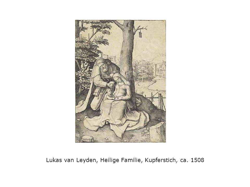 Lukas van Leyden, Heilige Familie, Kupferstich, ca. 1508