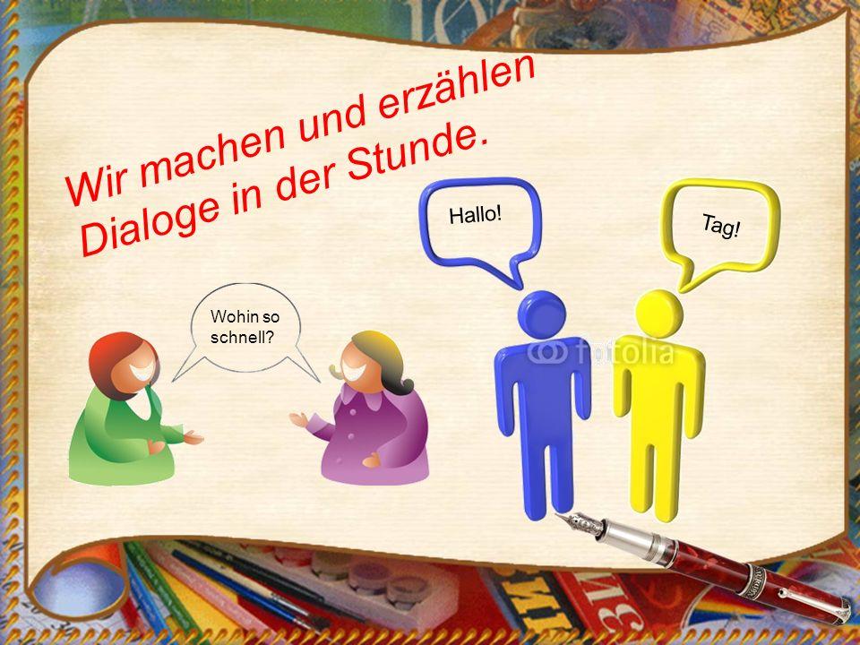 Die Schüler schreiben gute Aufsätze in Deutsch.Wir machen Klassenarbeiten in meinem Lieblingsfach.