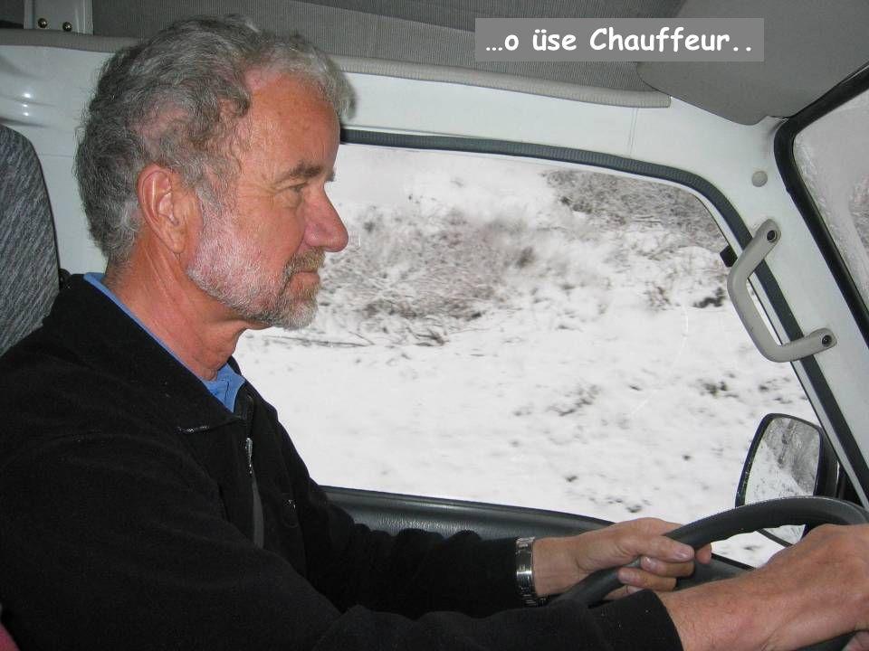 …aber es luege alli i di glich Richtig… …o üse Chauffeur..