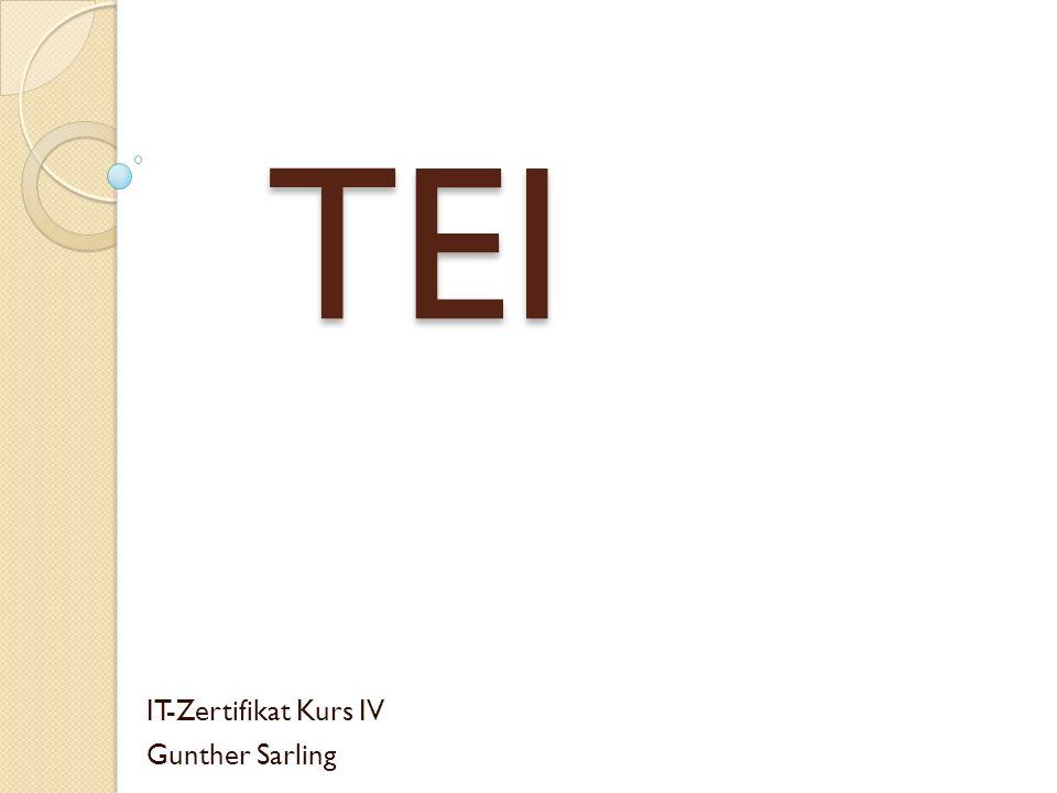 TEI IT-Zertifikat Kurs IV Gunther Sarling