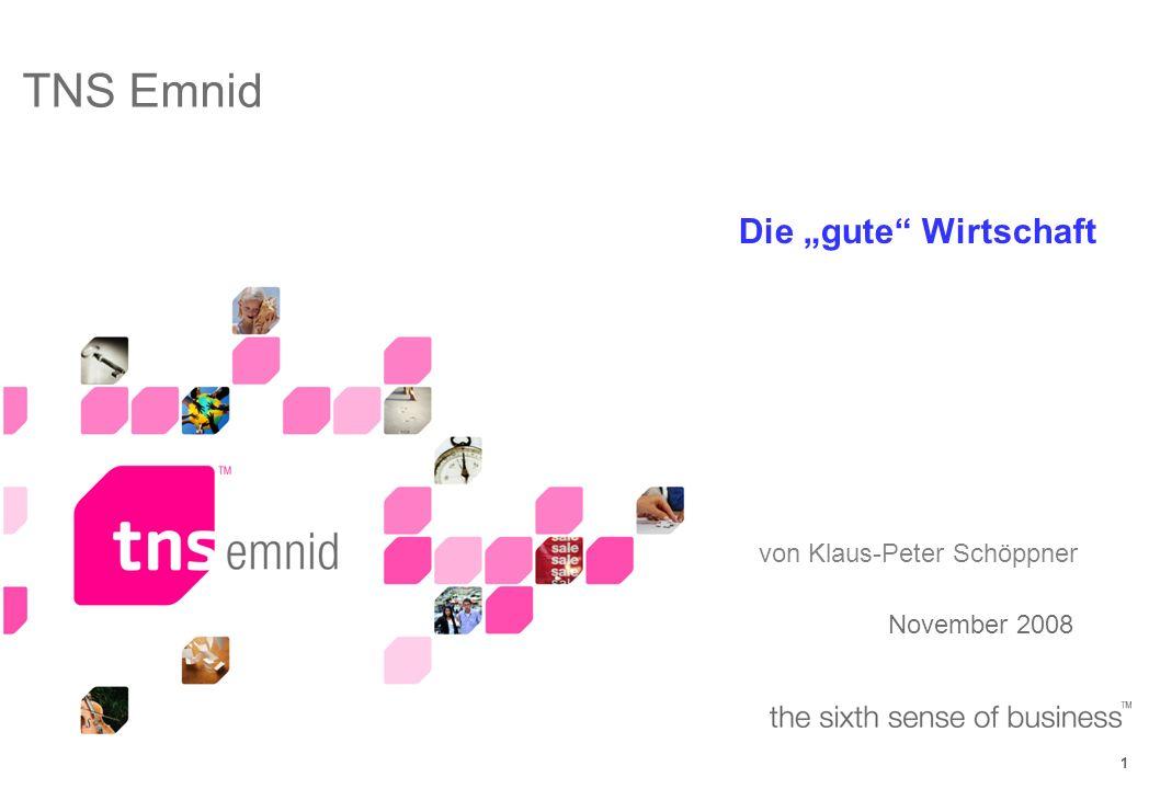 1 November 2008 TNS Emnid Die gute Wirtschaft von Klaus-Peter Schöppner