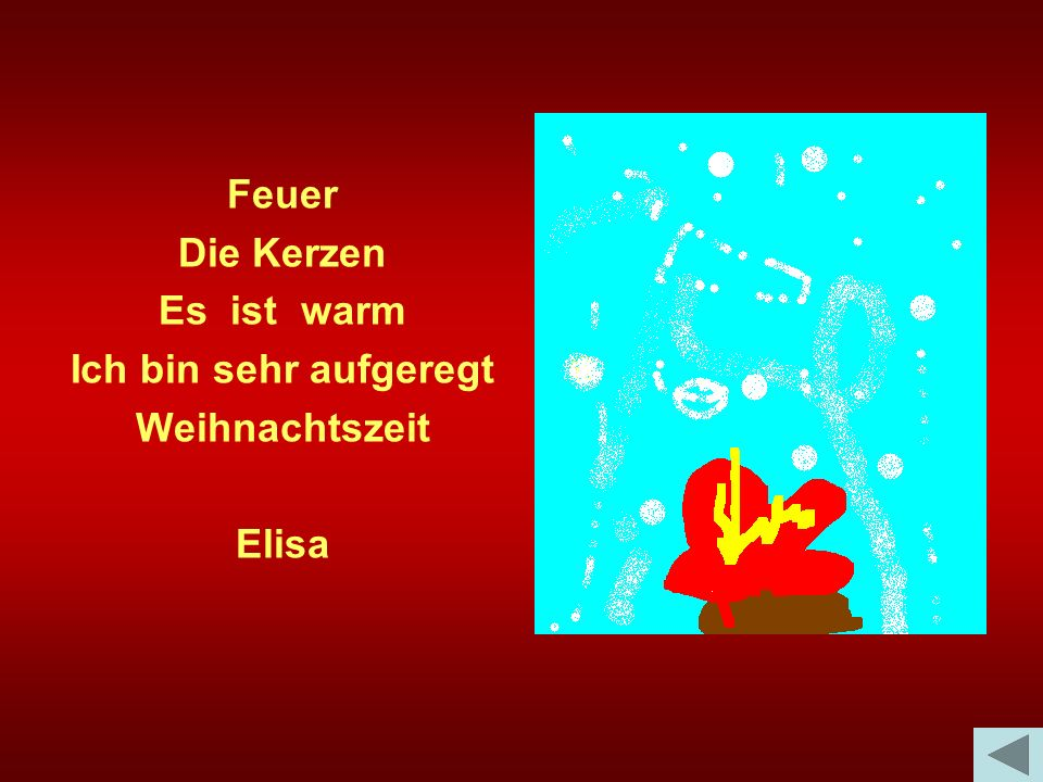 Feuer Die Kerzen Es ist warm Ich bin sehr aufgeregt Weihnachtszeit Elisa