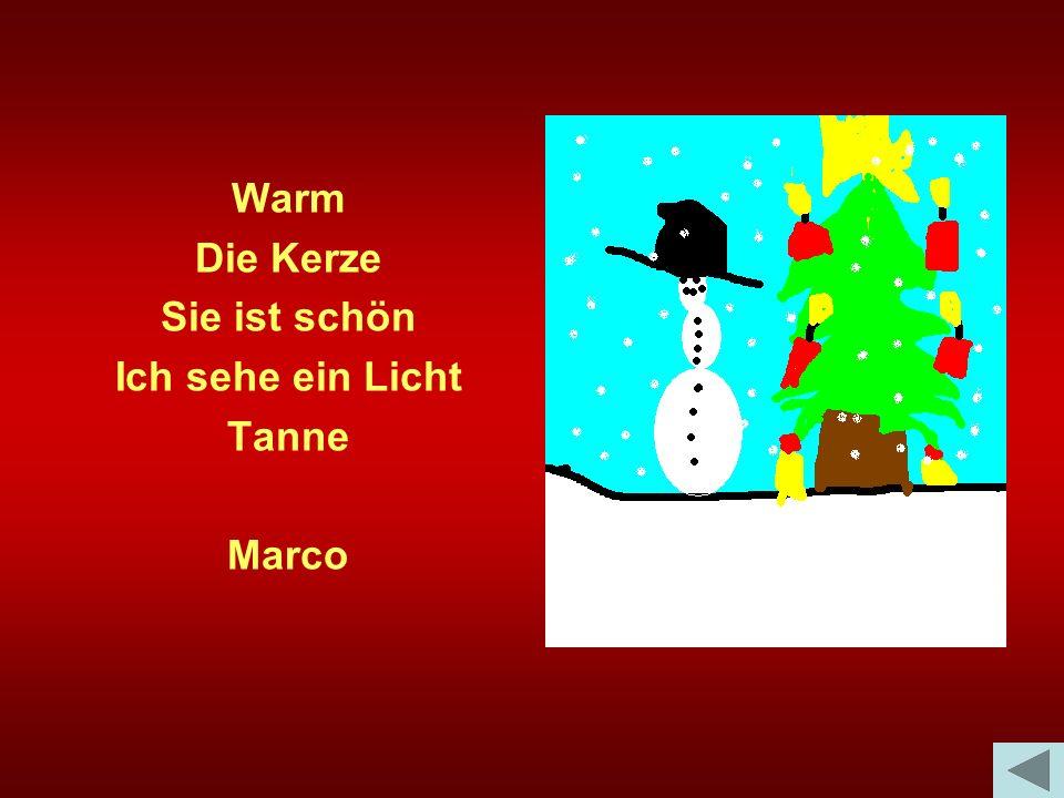 Warm Die Kerze Sie ist schön Ich sehe ein Licht Tanne Marco