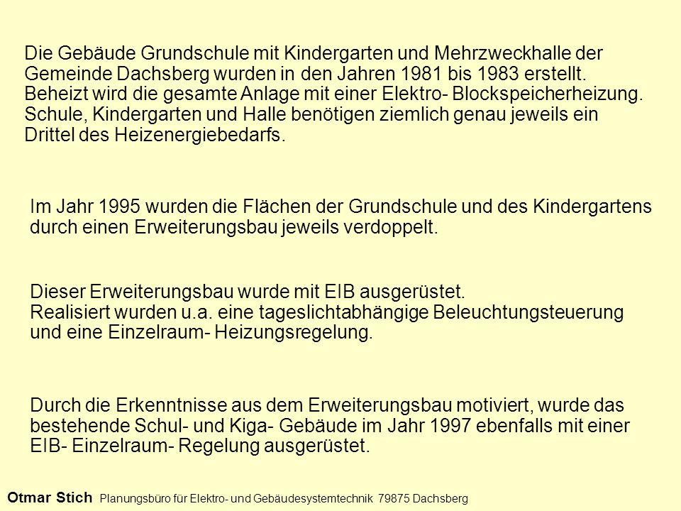 Die Gebäude Grundschule mit Kindergarten und Mehrzweckhalle der Gemeinde Dachsberg wurden in den Jahren 1981 bis 1983 erstellt.
