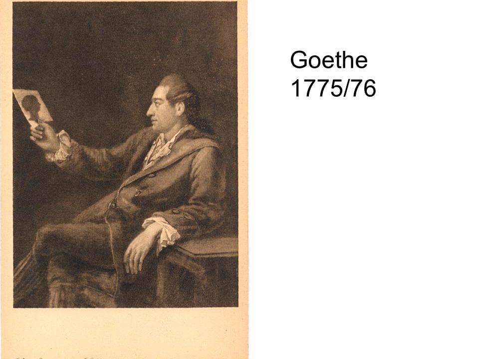 Goethe 1775/76