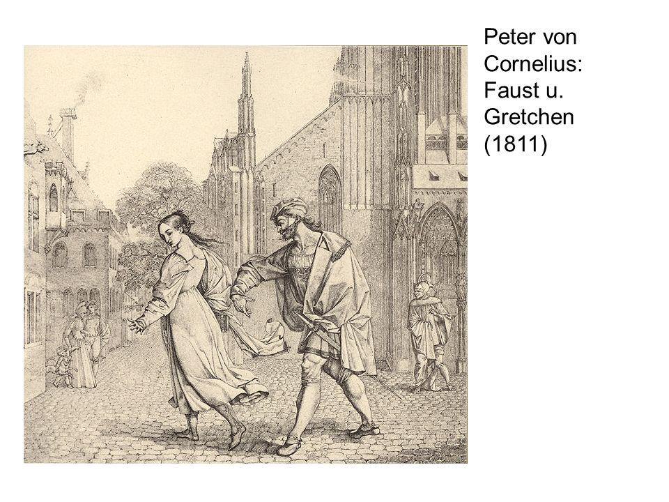 Peter von Cornelius: Faust u. Gretchen (1811)