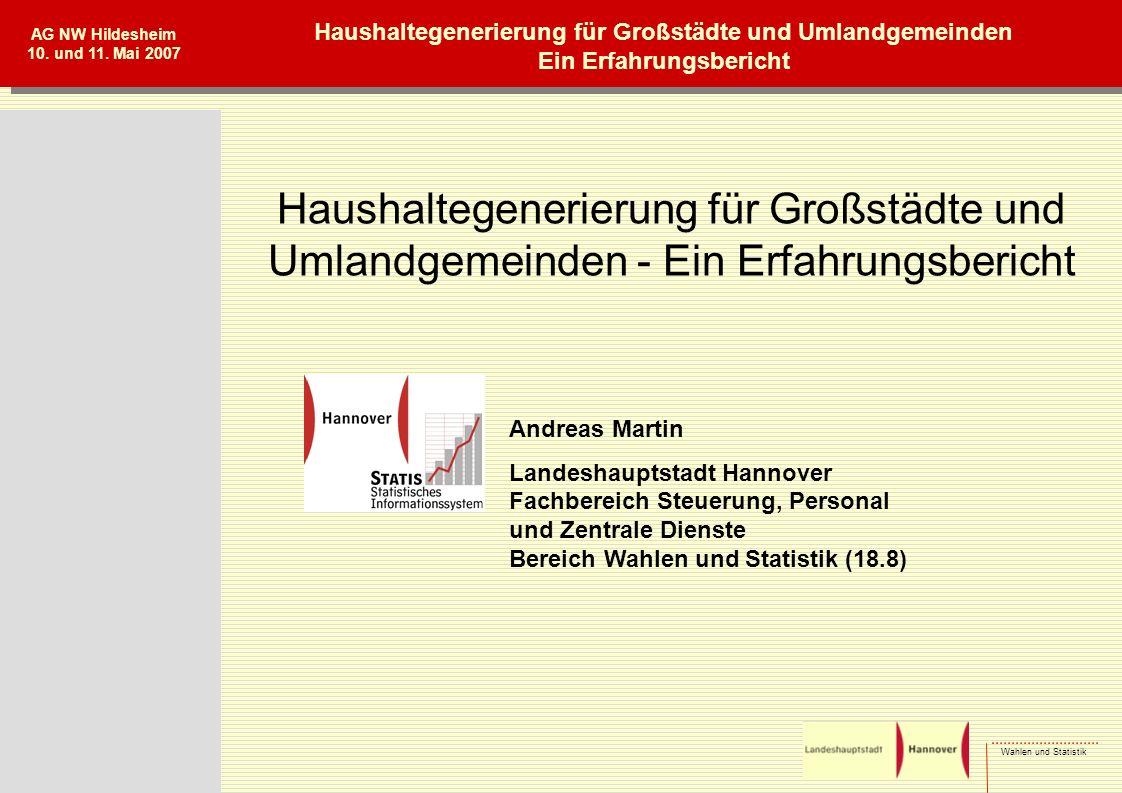 Wahlen und Statistik AG NW Hildesheim 10.und 11.