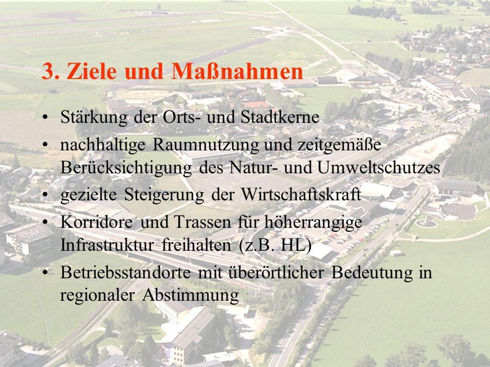 Salzburger Raumplanung LAND SALZBURG ABTEILUNG 7: RAUMPLANUNG FACHREFERENT 7/02: RAUMFORSCHUNG UND GRENZÜBERSCHREITENDE RAUMPLANUNG 3. Ziele und Maßna