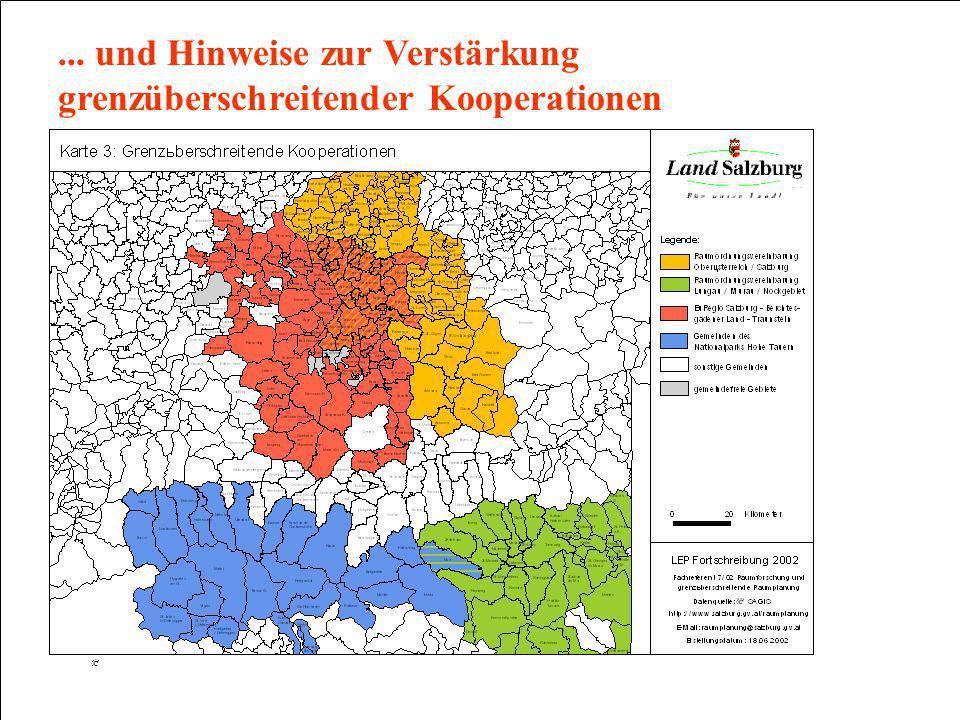 Salzburger Raumplanung LAND SALZBURG ABTEILUNG 7: RAUMPLANUNG FACHREFERENT 7/02: RAUMFORSCHUNG UND GRENZÜBERSCHREITENDE RAUMPLANUNG... und Hinweise zu