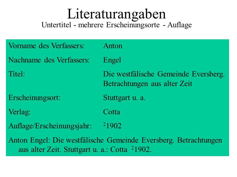 Literaturangaben Untertitel - mehrere Erscheinungsorte - Auflage Vorname des Verfassers:Anton Nachname des Verfassers:Engel Titel:Die westfälische Gem