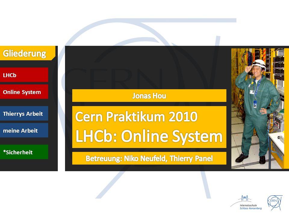 LHCb Online System Thierrys Arbeit meine Arbeit *Sicherheit