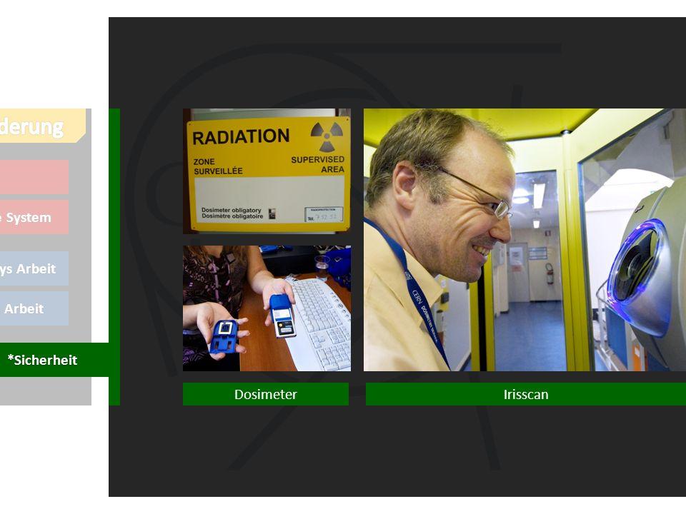 meine Arbeit Thierrys Arbeit Online System LHCb Irisscan *Sicherheit Dosimeter