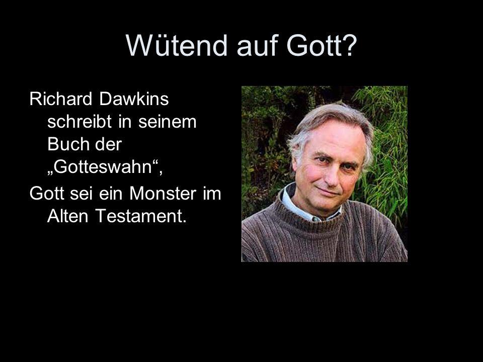 Wütend auf Gott? Richard Dawkins schreibt in seinem Buch der Gotteswahn, Gott sei ein Monster im Alten Testament.