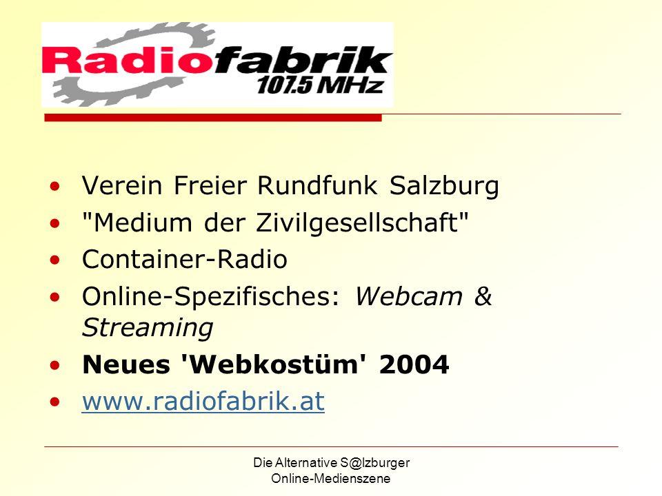 Die Alternative S@lzburger Online-Medienszene Warum jfk-online.