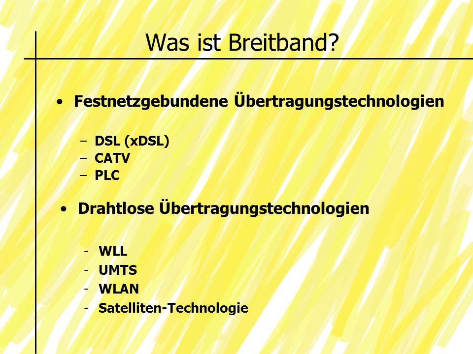 Was ist Breitband.