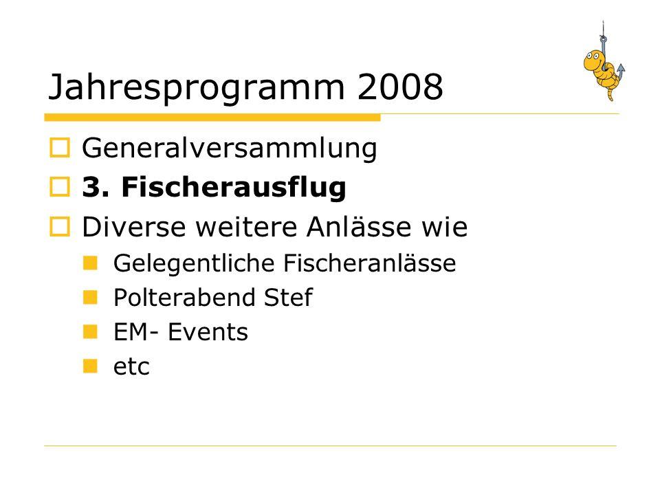 Jahresprogramm 2008 Generalversammlung 3.