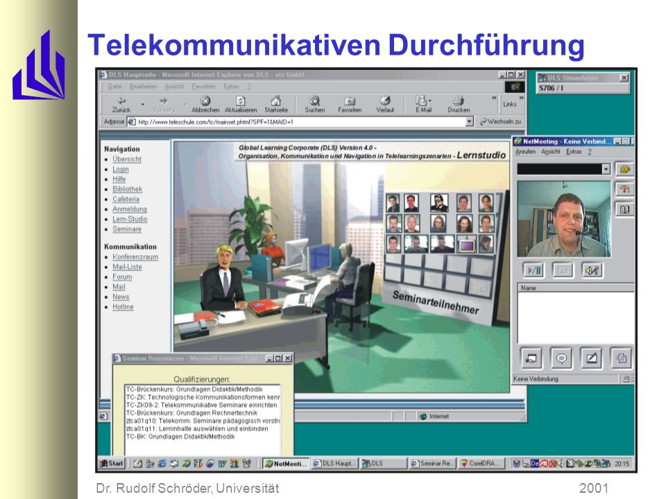 2001Dr. Rudolf Schröder, Universität Paderborn Telekommunikativen Durchführung